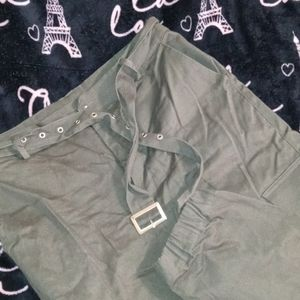 Olive colored women's joggers
